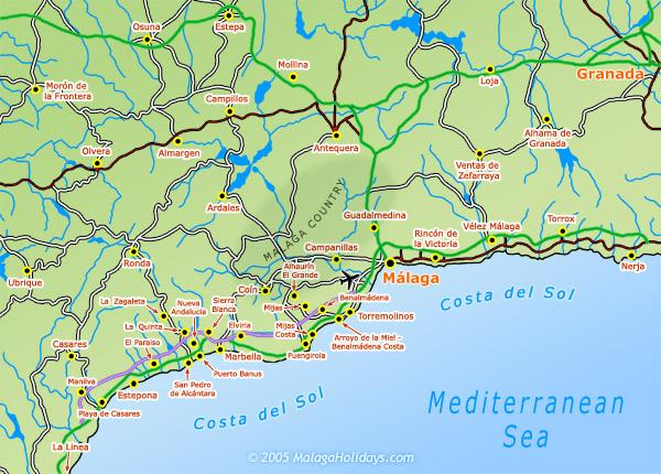 Karta Spanien Granada.Artiklar Om Kop Av Bostad Costa Del Sol Bostad